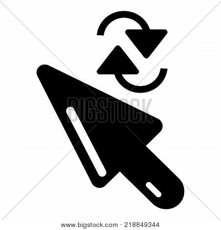 Cursor element icon. Simple illustration of cursor element vector icon for web