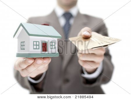 Invest in real estate concept. Shallow DOF