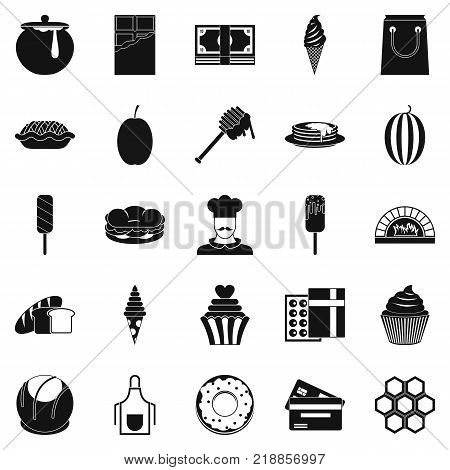 Executive chef icons set. Simple set of 25 executive chef vector icons for web isolated on white background