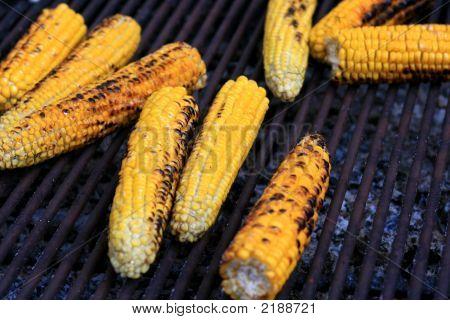 Grilled Burned Corn