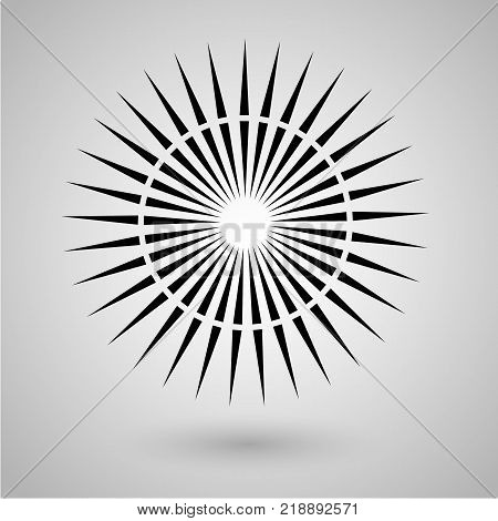 Abstract minimal black and white star for design Eps 10 stock photography illustration.