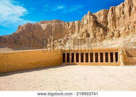 Ancient ruins of the great temple of Hatshepsut Karnak temple Luxor Egypt