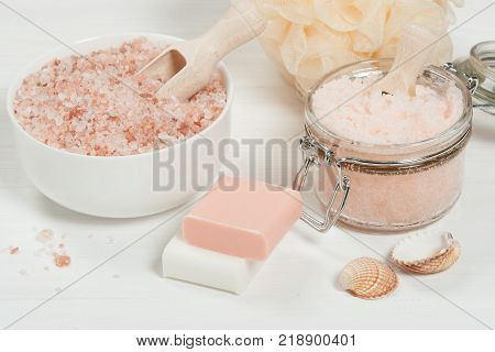 Handmade Sugar Peach Scrub With Argan Oil. Himalayan Salt. Toiletries, Spa Set