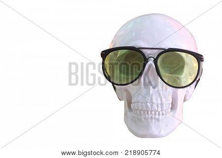 Glasses on a skull