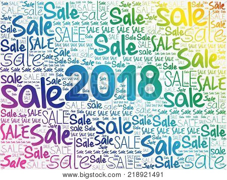 2018 SALE word cloud collage business concept background