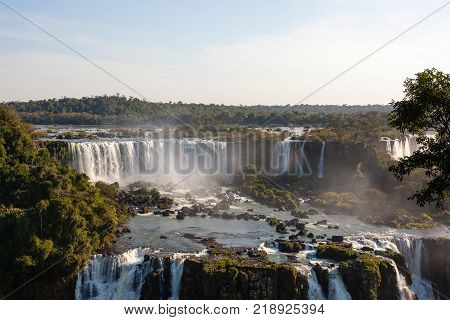 Landscape from Iguazu Falls National Park Argentina. World heritage site. South America Adventure travel