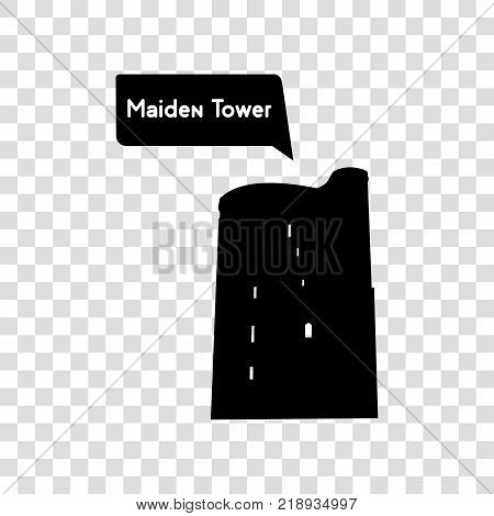 Vector - Skyscraper logo building icon. Black building and isolated skyscraper, tower and office city architecture, house business building logo, apartment office vector illustration