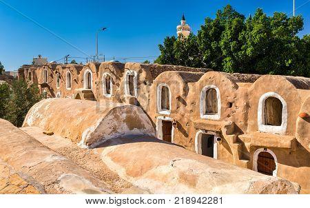 Ksar Hadada in in southeastern Tunisia. Star Wars: Episode I - The Phantom Menace was filmed here.