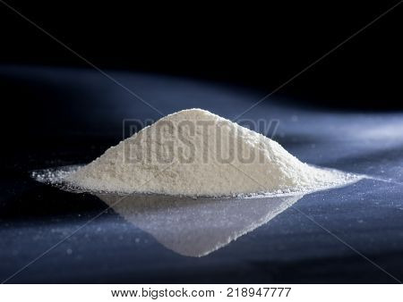 Dry Chemical Powder. Could be a natural chemical extract or product of industrial chemistry.