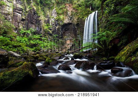 A long exposure of Hopetoun Falls located in Beechforest Victoria.