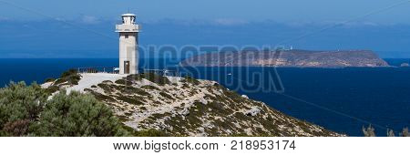 The Corny point lighthouse in the Innes National Park