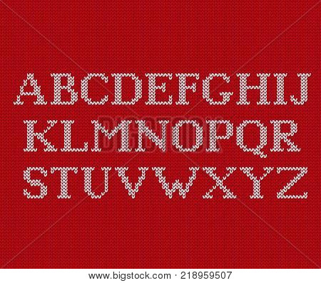 Knit Font Christmas Vector Photo Free Trial Bigstock