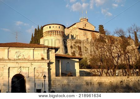 View of the historic Castle from the city of Brescia - Brescia - Italy - Brescia - Lombardy - Italy