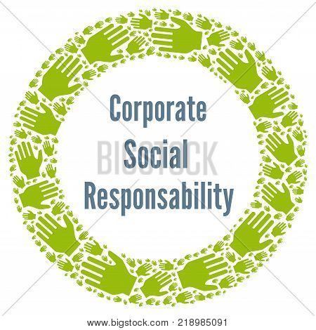 CSR corporate social responsibility with a white background