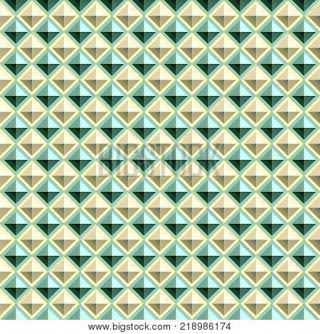 Vector geometry tiled background - seamless rhombus pattern