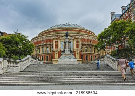 LONDON, ENGLAND - JUNE 18 2016: Amazing view of Royal Albert Hall, London, Great Britain