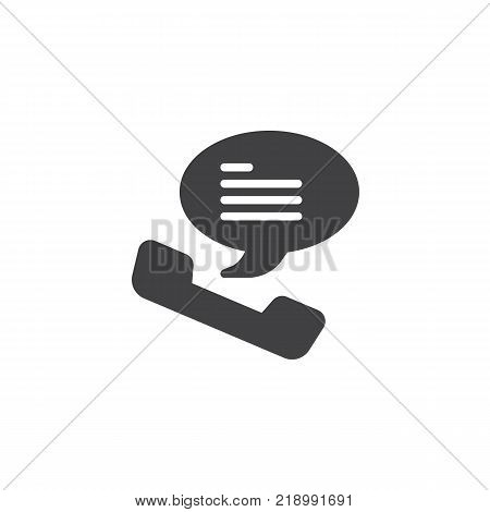 Telephone receiver icon vector, filled flat sign, solid pictogram isolated on white. Voice chat symbol, logo illustration.