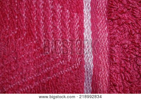 Red cloth background Abstract fabric texture empty template.