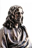 Statue of Jesus Christ with hands outstretched poster