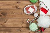Handmade Mint Scrub With Coconut Oil. Toiletries, Spa Set poster