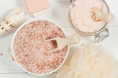 Handmade Sugar Peach Scrub With Argan Oil. Himalayan Salt. Toiletries, Spa Set poster