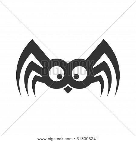 Spider Funny Logo Sign. Illustration Vector. Eps 10