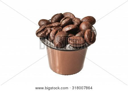 Coffee Capsule Isolated - On White Background