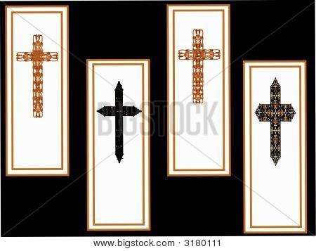Vector Cross Bookmark Set