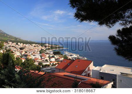 Baska Voda, Croatia. Resort Town In Dalmatia. Makarska Riviera.