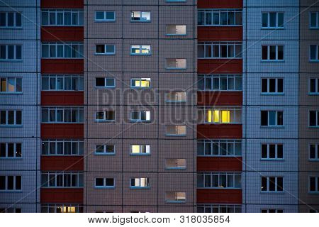 Architecture Of Window Building Modern Style. Facade Of A New Multi-storey Buildings