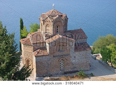 Beach Chirch Church Cliff Coast Holiday John Kaneo Lake Landscape Macedonian Nature Ohrid Old Orthod