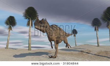 ceratosaurus in jungle