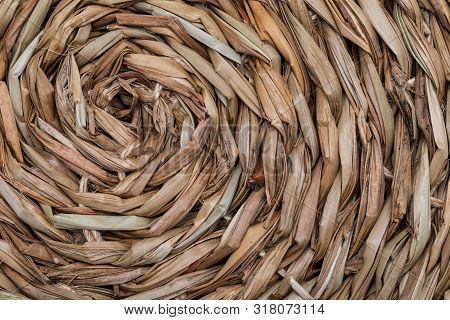 Close-up Wicker Basket Texture. (collection Of Vegetable And Natural Fibers).