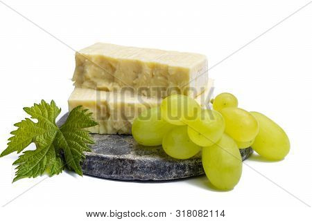 Cheddar Cheese Collection, Block Of Cheddar Cheese Made From Cow Milk