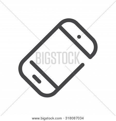 Inclined Smartphone Icon Isolated On White Background. Inclined Smartphone Icon In Trendy Design Sty