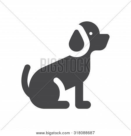 Dog Icon Isolated On White Background. Dog Icon In Trendy Design Style For Web Site And Mobile App.