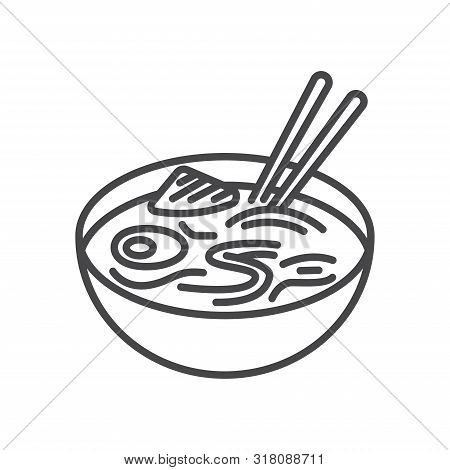 Noodles Icon Isolated On White Background. Noodles Icon In Trendy Design Style For Web Site And Mobi