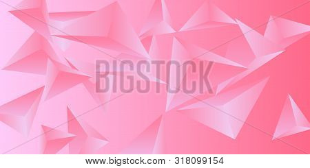 Triangle Background. Abstract Composition Of Triangular Crystals. 3d Vector Illustration . Modern Ge