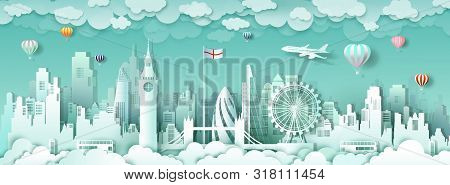 Travel London England Famous Landmarks Europe Downtown By Balloon And Airplane,travel City Architect