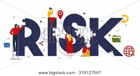 Risk Management Concept Of Control Danger Problem In Investment Or Financial Management Business.