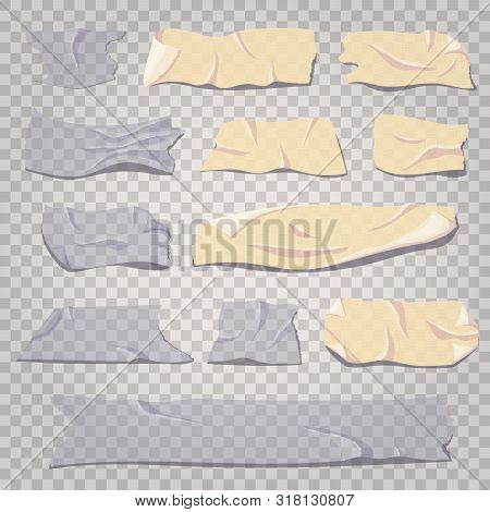 Scotch Tape Transparent, Masking And Adhesive Tape Pieces Set