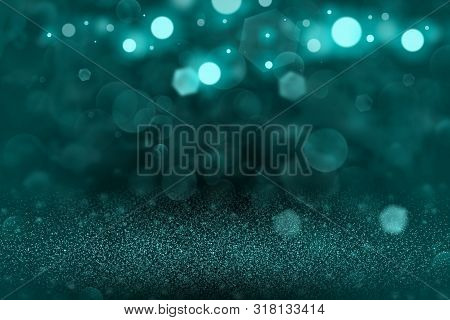 Light Blue Nice Brilliant Abstract Background Glitter Lights Defocused Bokeh - Festal Mockup Texture