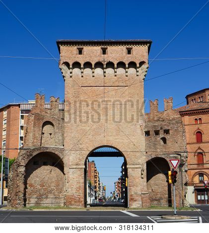 The Old City Gate Of San Felice In Bologna, Porta San Felice. Bologna, Emilia Romagna, Italy