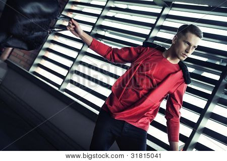 Dynamic photo of a fashionable guy