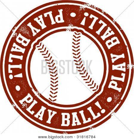 Play Ball Baseball Stamp