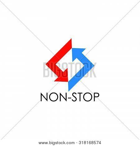 Circle Rotation Square Geometric Arrow Letter N Logo