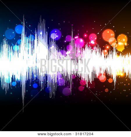 waveform music background