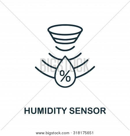 Humidity Sensor Outline Icon. Thin Line Style From Sensors Icons Collection. Pixel Perfect Simple El