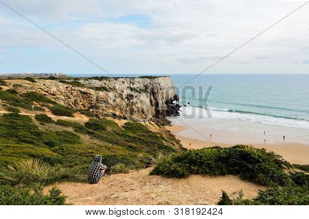 View Of The Beach Of Beliche, Algarve, Portugal