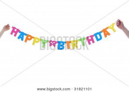 Colourful Happy Birthday Banner